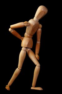 Rückenschmerzen Figur Schmerz